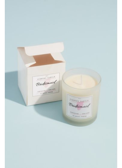 Bridesmaid Wood Wick Soy Candle - Thank your bridesmaids with this luxe wood wick