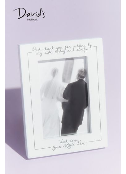 Father of the Bride Thank You Picture Frame - Commemorate a moment he'll cherish forever with this