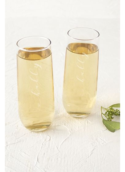Hubby and Hubby Stemless Champagne Flutes - Wedding Gifts & Decorations