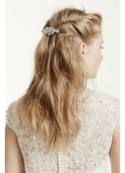 Barrette with Floral Pave Detail - Wedding Accessories