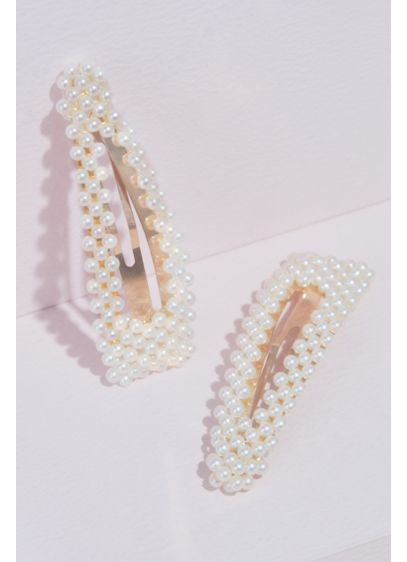 Pearl Embellished Hair Clip Set - Wedding Accessories