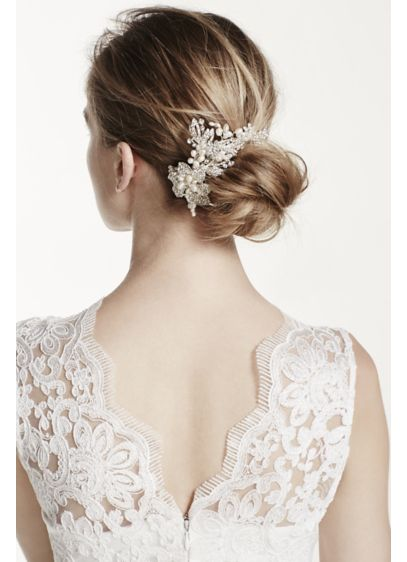 Pearl and Rhinestone Moldable Hair Wrap - Wedding Accessories