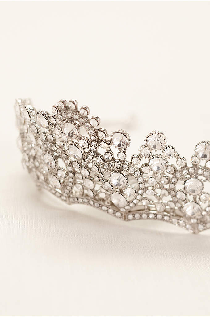 Crystal Tiara with Scalloped Design