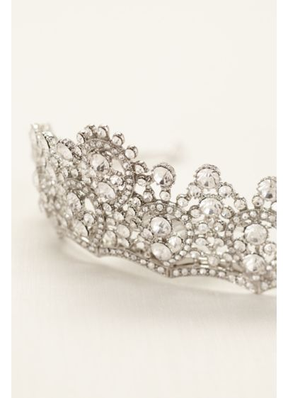 Crystal Tiara with Scalloped Design - Wedding Accessories