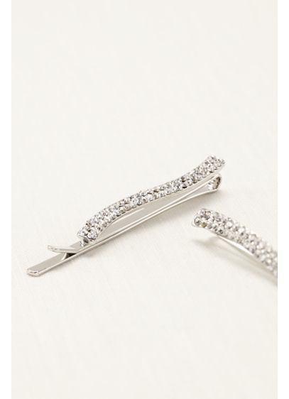 Set of 2 Crystal Bobby Pins - Wedding Accessories