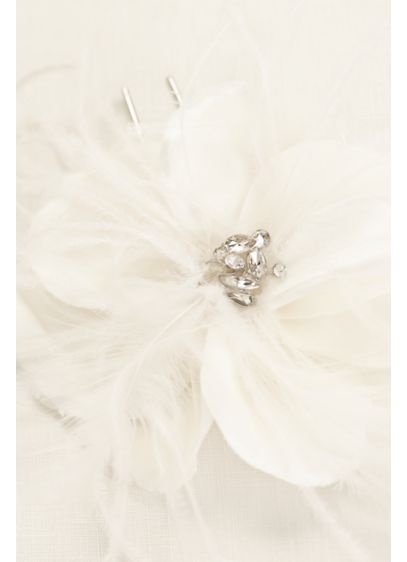 Large Petal Flower with Crystal Center Detail - Wedding Accessories