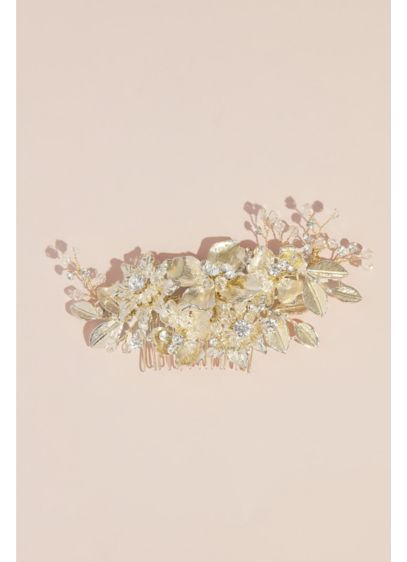Enameled Floral Crystal Comb - Adorn your hair with a true sign of