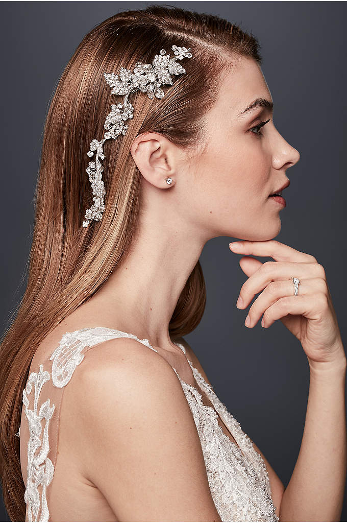 Lush Crystal Floral Flexible Hair Vine - With the feel of a flourishing spring garden,