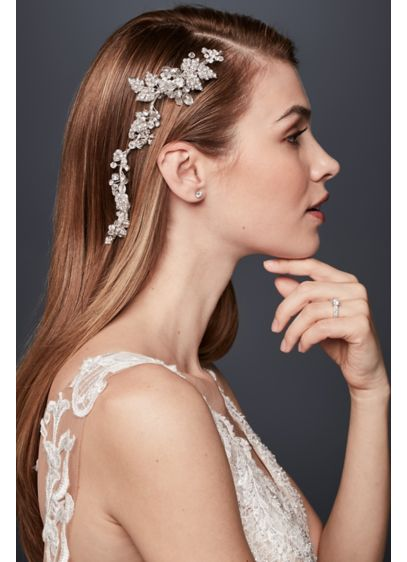 Lush Crystal Floral Flexible Hair Vine - Wedding Accessories