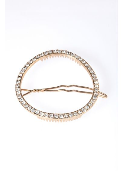 Pave Open Circle Barrette - Wedding Accessories