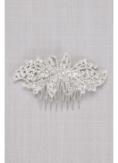 Bold Crystal Flower Comb - Wedding Accessories