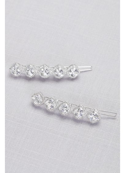 Dazzling Cubic Zirconia Hair Clip Set - Wedding Accessories