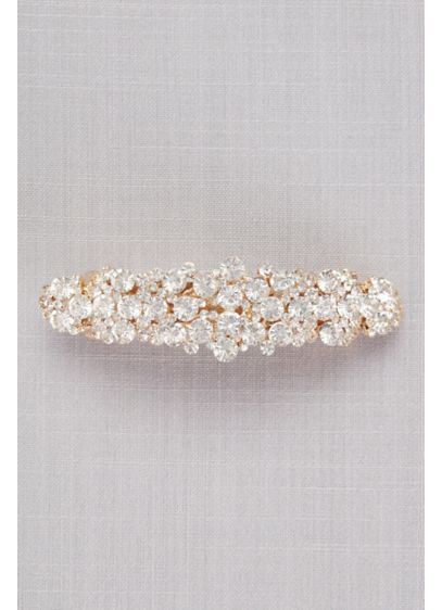 Large Crystal Cluster Barrette - Wedding Accessories