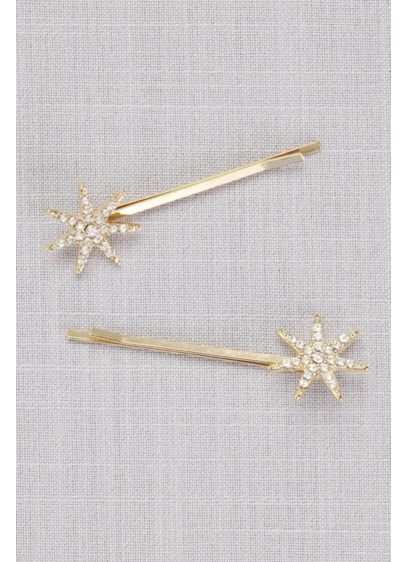 Vintage Crystal Starburst Bobby Pins - Make a wish on these shooting star bobby