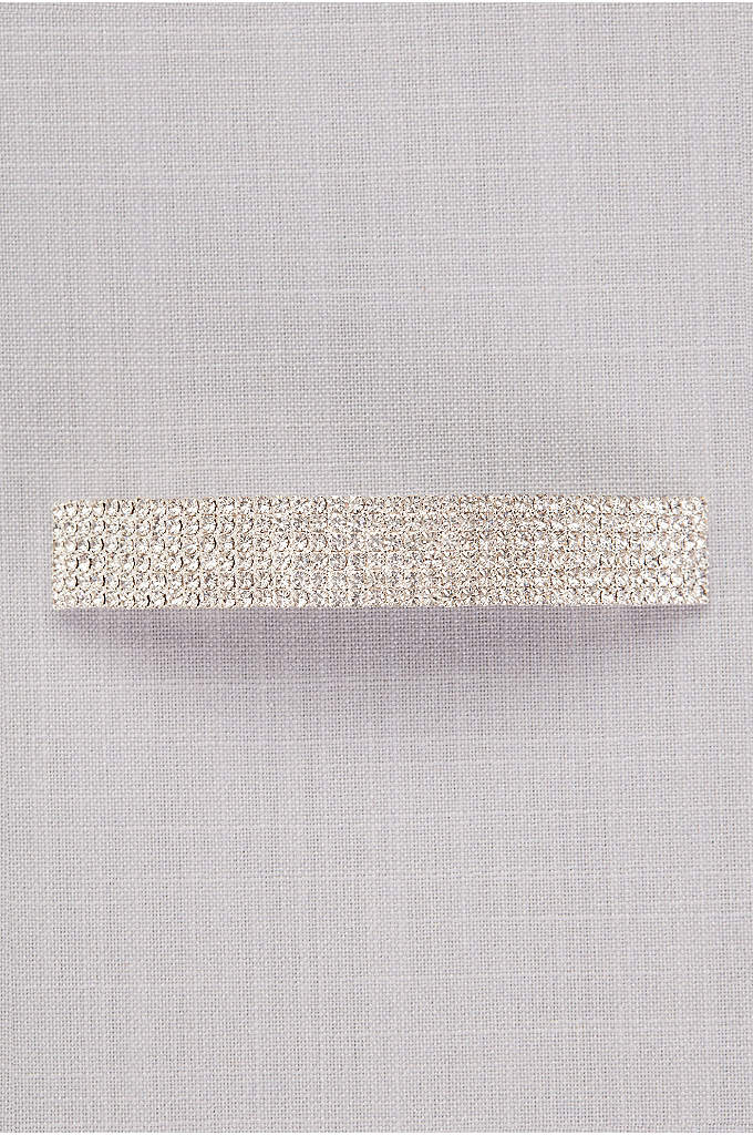 Crystal Rows Barrette - Glam up your ponytail with this glittering barrette
