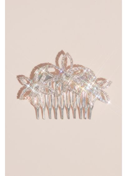 Pave Crystal Outlined Flower Girls' Comb - Wedding Accessories