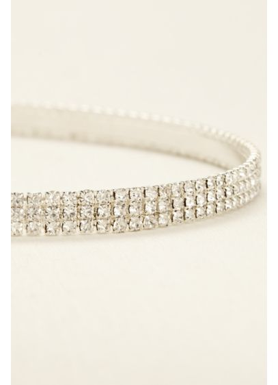 Three Row Crystal Headband - Wedding Accessories