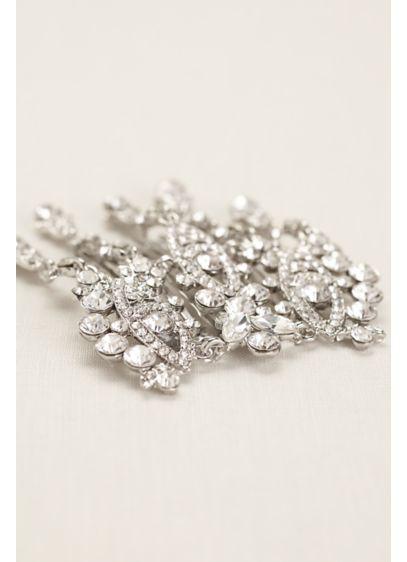 David's Bridal Grey (Crystal Chandelier Comb)