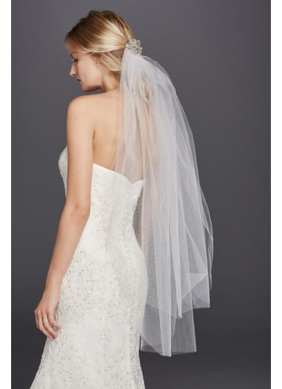 Mid Length Veil with Filligree Comb - Wedding Accessories