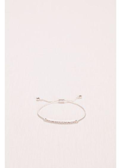 Crystal Bar Bracelet with Fringe Closure - Wedding Accessories