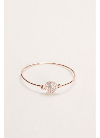Pave Circle Bangle with Embellished Clasp - Wedding Gifts & Decorations