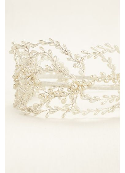 Woven Pearl Headband - Wedding Accessories