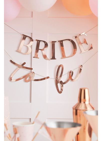 Bride To Be Metallic Bunting - Decorate your shower or bachelorette party with this