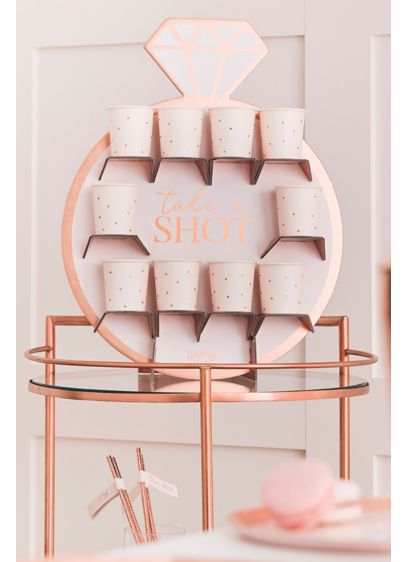Pink (Ring-Shaped Rose Gold Shot Wall Set)