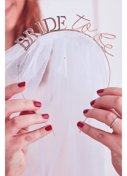 Bride To Be Headband with Veil - The perfect accessory for your bachelorette party or