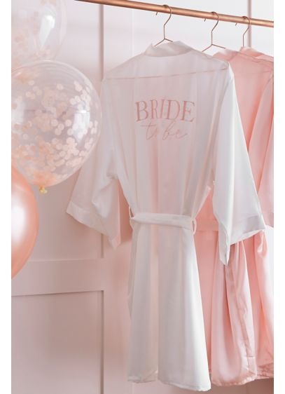White (Embroidered Bride To Be Robe)