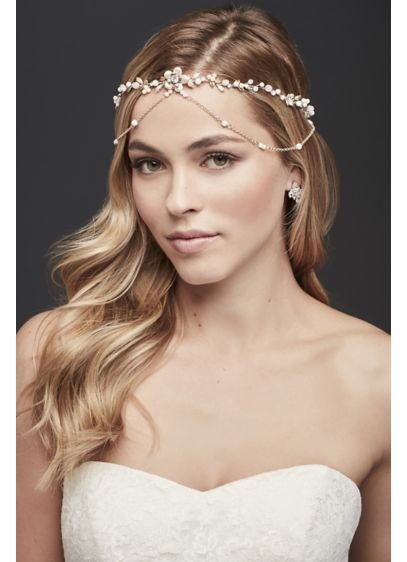 Two Tone Goddess-Style Chain Headband - Wedding Accessories