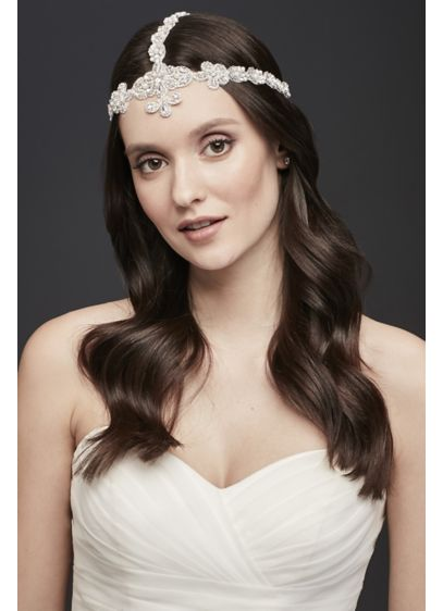Beaded Mesh Goddess-Style Headband - Wedding Accessories