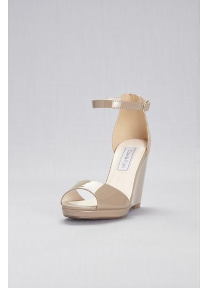 Touch Ups Beige (Ankle-Strap Peep-Toe Wedges)