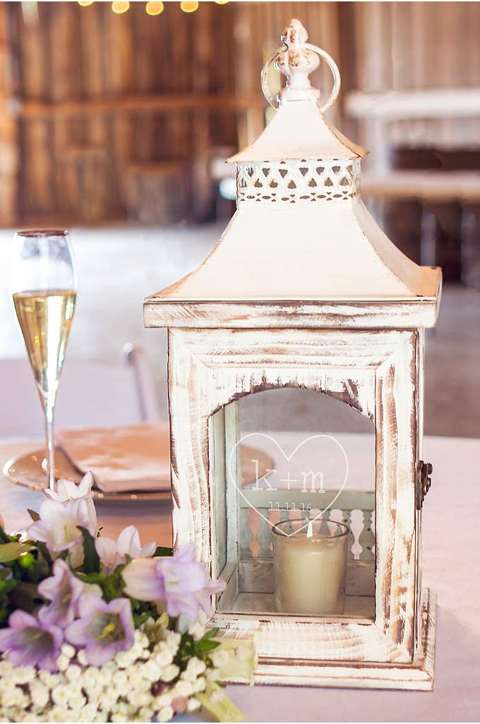 Personalized Rustic Heart Centerpiece Lantern - The Personalized Rustic Heart Centerpiece Lantern will give