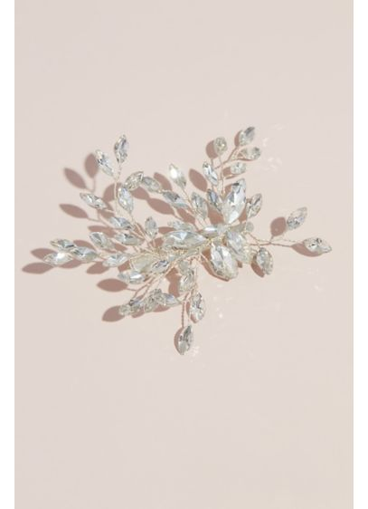 Marquise Cut Branches Blooming Crystal Hair Clip - Wedding Accessories