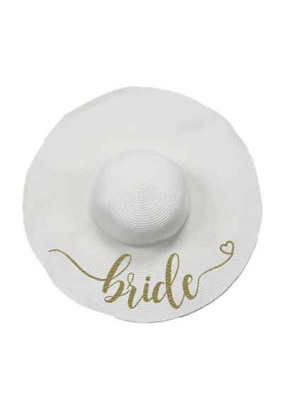 Bride Floppy Sun Hat - This wide brim floppy sun hat is embroidered