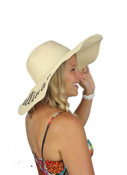 Personalized Floppy Sun Hat - Personalize this wide brim floppy sun hat with