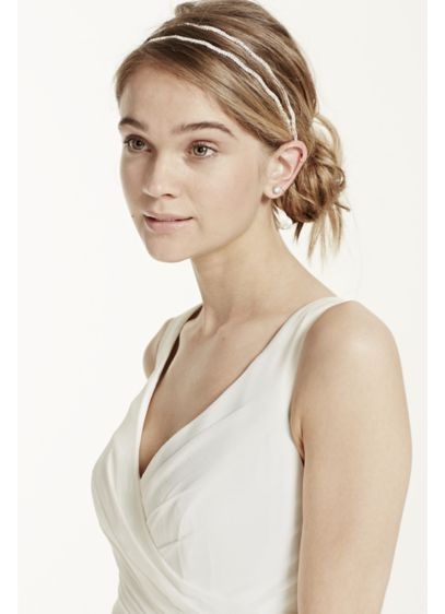 Double Row Pave Head Wrap - Wedding Accessories