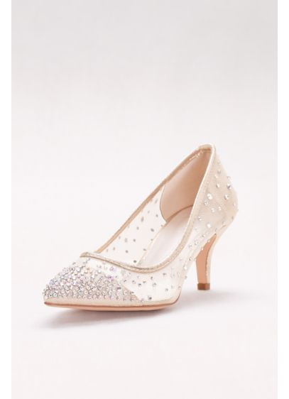 David's Bridal Beige (Mid-Heel Mesh Pointed-Toe Pumps)