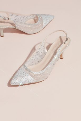 Blossom Grey Pumps (Crystalized Illusion Slingback Heeled Mules)
