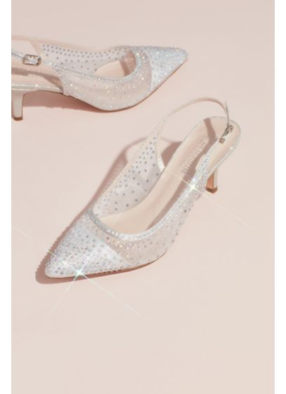 Blossom Grey (Crystalized Illusion Slingback Heeled Mules)