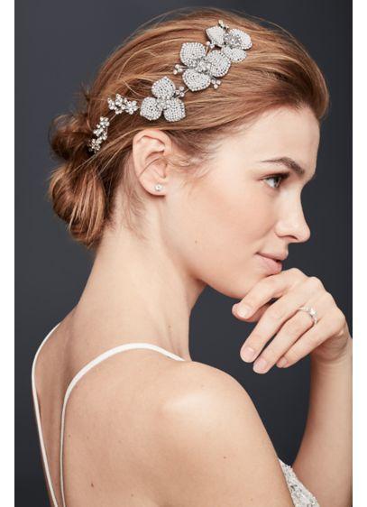 Seed Pearl and Crystal Floral Hair Vine - Wedding Accessories