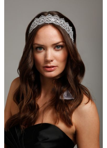 Crochet Ribbon Tie Headwrap - Wedding Accessories