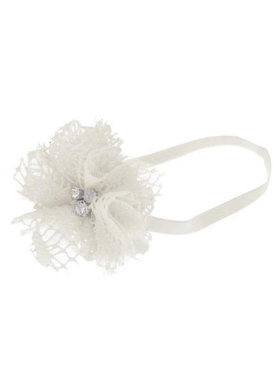 David's Bridal Ivory (Flower Girl Mixed Media 3D Flower Headband)