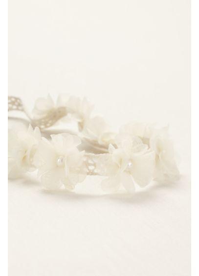 Flower Girl All Around Fabric Floral Headband - Wedding Accessories
