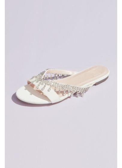 Crystal Drop V-Strap Slide Sandals - Easy slip-ons for the bride that don't skimp