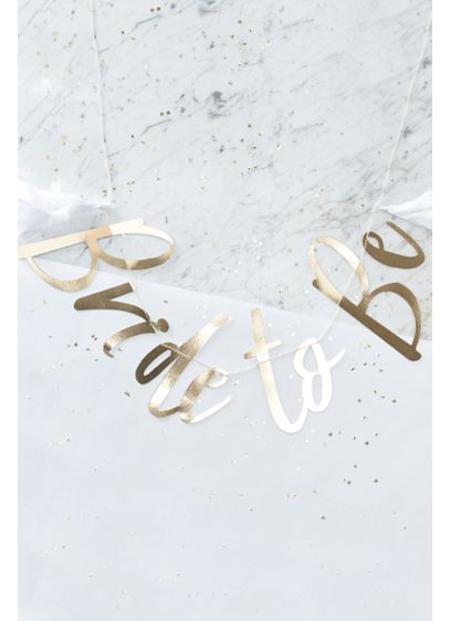 Bride to Be Gold Banner - A gorgeous gold 'Bride to Be' bunting adds