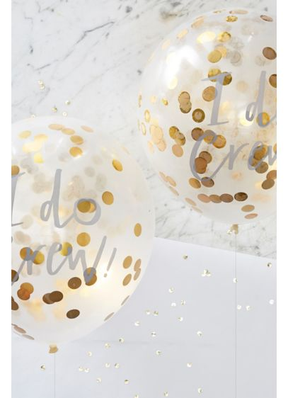 12 Inch I Do Crew Confetti Balloons Pack of 5 - Wedding Gifts & Decorations