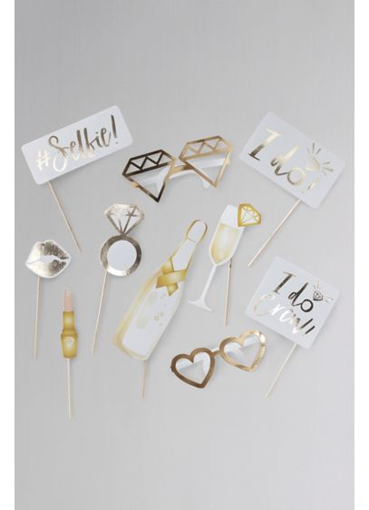 I Do Themed Photobooth Props - Place these fun photobooth props around your bachelorette
