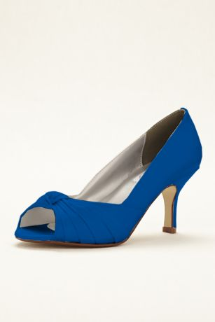 Dyeables Black;Blue;Grey;Ivory;Pink;Purple;Red;White Pumps (Ida Dyeable Peep Toe Pump)